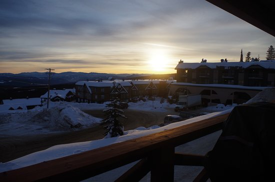 Keystone, CO: Sunrise from the deck.