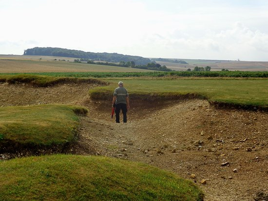 Martinpuich, France : Former trenches