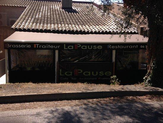 Biot, France: terrasse couverte