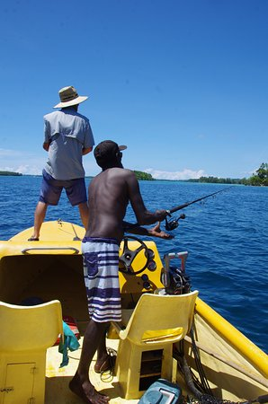 Lola Island, Solomon Islands: Fishing was fab