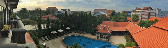 Lucky Angkor Hotel: Panaromic View from the Balcony