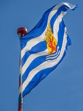 Scharendijke, The Netherlands: le drapeau de Zeeland