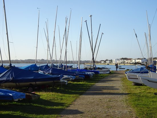 Highcliffe, UK: Yachts at Mudeford Quay