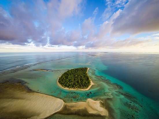 Tikehau Ninamu Resort: Aerial view of our private island resort