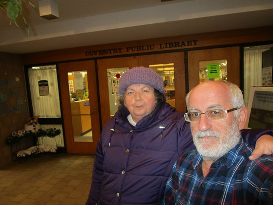 Louis and I at Coventry Public Library.