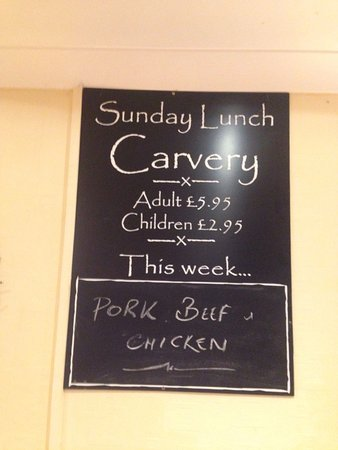 Aberystwyth, UK: Clive's Carvery on a Tuesday evening!
