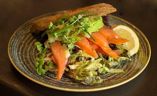 Henne, Denmark: Lakse sandwich