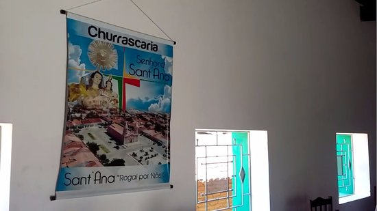 Santana do Matos, RN: parte interna da churrascaria