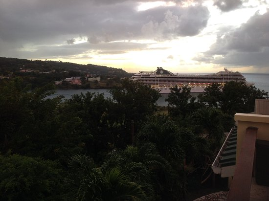 Castries Quarter, St. Lucia: View from the common terrace
