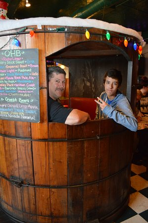 Hickory, NC: We sat in a barrel!