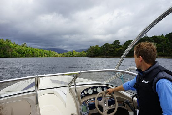 Gartocharn, UK: Chris, boat driver and Portnellan Farm owner.