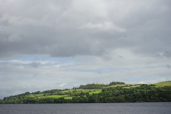 Gartocharn, UK: View of Portnellan Farm from the water.