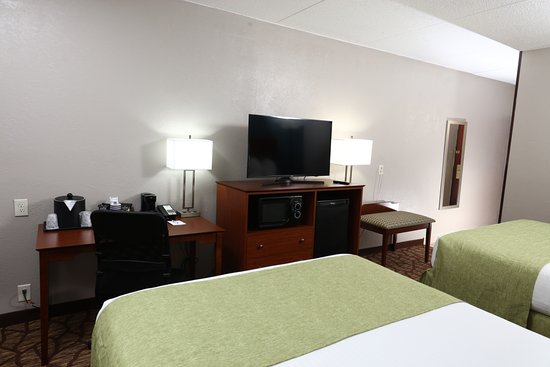 "Best Western Hospitality Hotel & Suites: Stay in comfort all of our rooms have a 42"" TV, microwave and refrigerator."