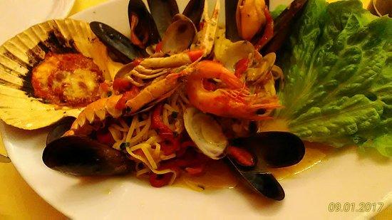 Ristorante Pizzeria Vecchia Posta: Taglione a moda chef. Super delicioso, recomendo. O restaurante é muito bom tem frutos do mar, p
