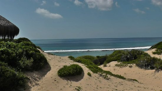 The Indian Ocean from Tofo Earth Lodge