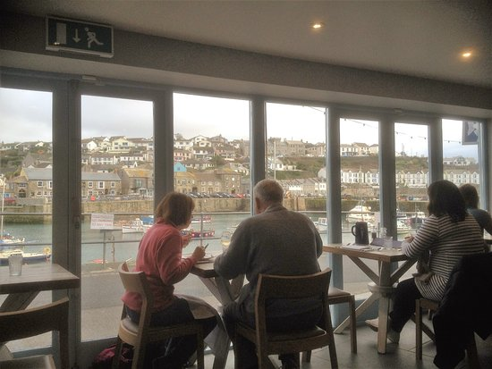 Porthleven, UK: View from our Table