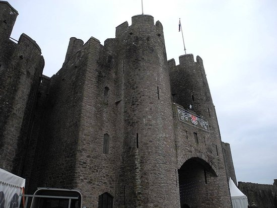 Castillo de Pembroke desde adentro