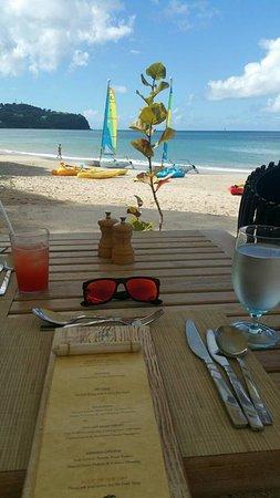 Rendezvous Resort: Malabar Beach Club restaurant (our favorite)
