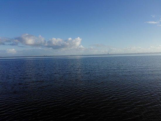 Manatee Hammock Campground: da hinten ist Cape Canaveral