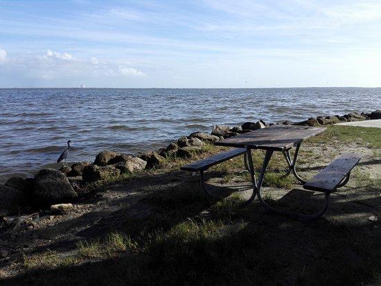 Sitzgelegenheiten am Ufer