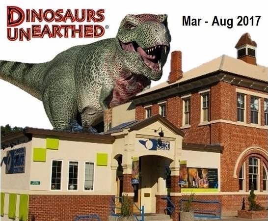 Vernon, Canada: See Dinosaurs Unearthed at the Okanagan Science Centre from March 4 - August 31, 2017.