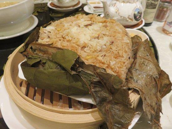 Richmond Hill, Canada: Steamed Prawn Fried Rice in Lotus Leaf Wrap