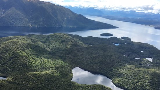 Fiordland National Park, New Zealand: View from ride to Luxmore Hut