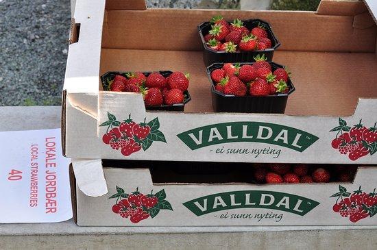Valldal, Norway: Можно полакомиться))