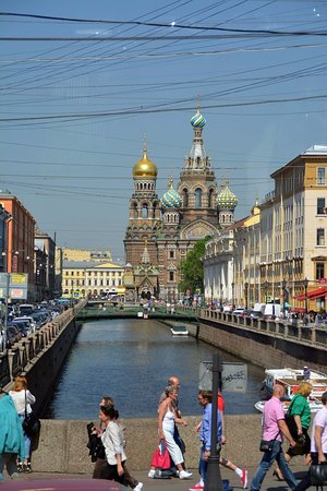 Храм Спаса на Крови: View from the canal