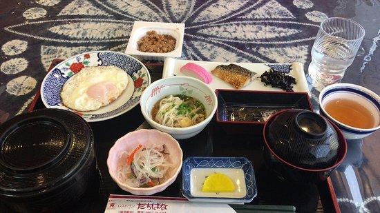 Isahaya, Japan: 朝食(和食)+納豆