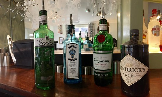 Thorpe le Soken, UK: The Gin variety & Whiskey & Vodka