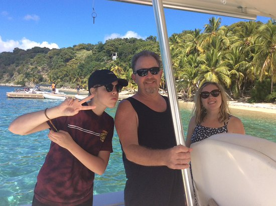 Road Town, Tortola: On the boat heading to lunch!!
