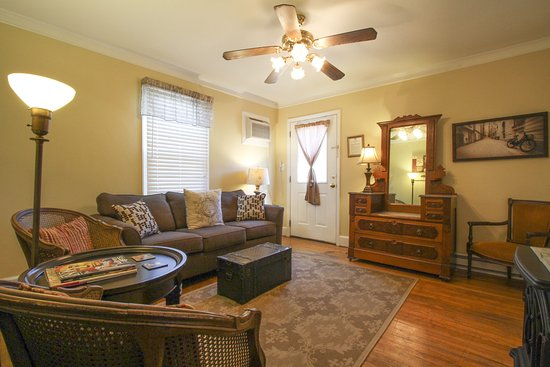 Gibsonville, Carolina del Norte: Front living room of our Provence Cottage