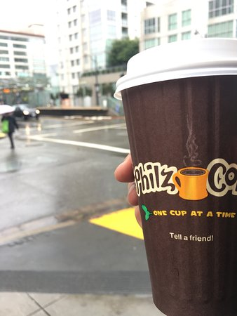 Philz Coffee: Philz coffe on a cold morning.