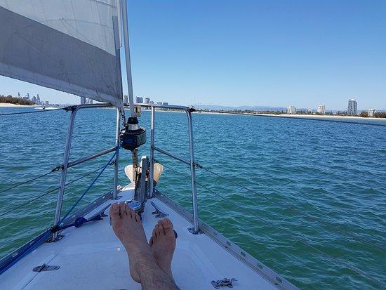 Champagne Sailing Cruises: Cruising the estuary