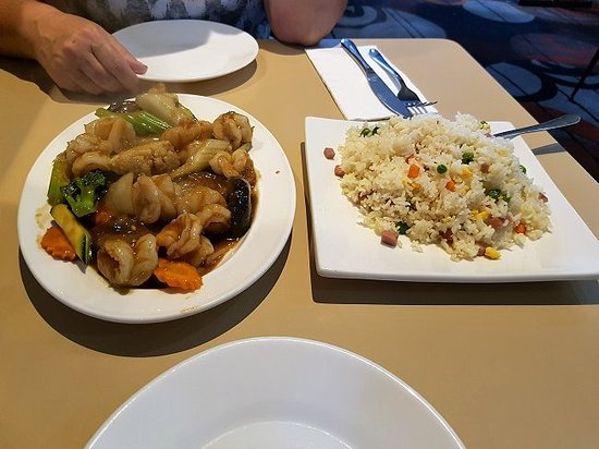 Eden, Australia: Prawn and Mushrooms with Fried Rice