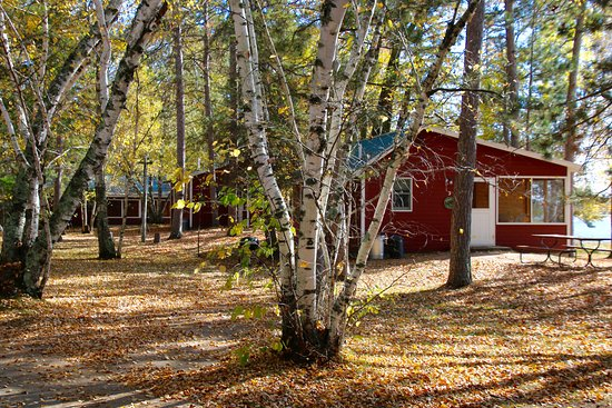 Two Inlets Resort: Cabin #3 in the fall