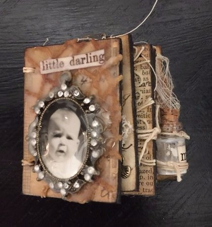 Goliad, TX: Baby, Baby whimsical book by California artist Theresa Kent.