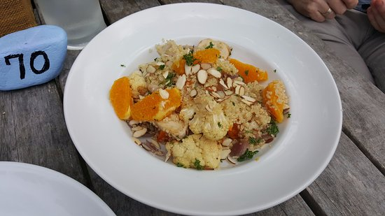 Levin, New Zealand: Quinoa & kumara salad with added chicken