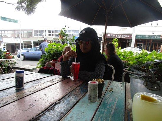"""Devonport, นิวซีแลนด์: enjoying """"Raspberry with Lemonade"""""""