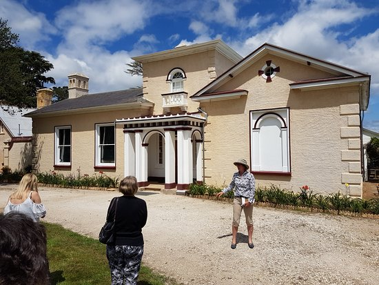 Longford, Australie : The guided tour - Georgian part of the house.