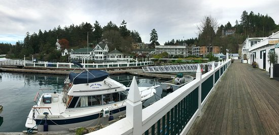 Looking back at Roche Harbor with Lime Kiln to the right