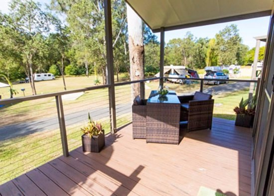 Esk, Australien: Cabin 10 balcony