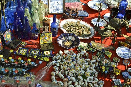 Anjuna, India: рынок