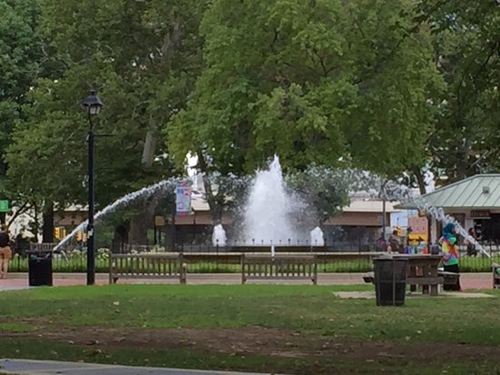 Franklin Square: It was great to sit close to water bodies during summers