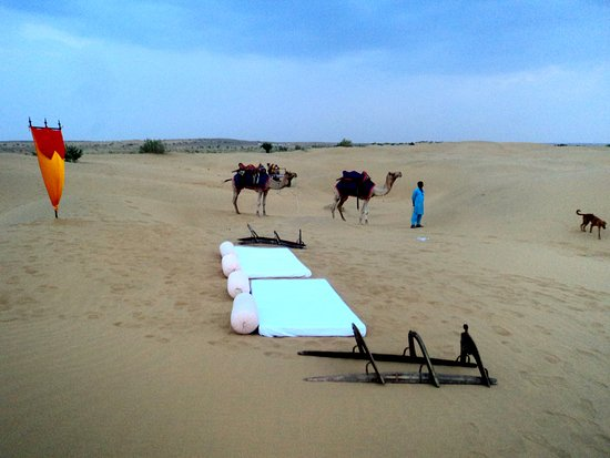 Desert Safariors Camps : Exclusive Dinner on Dunes