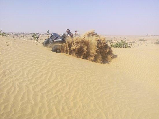 Desert Safariors Camps : Quad Biking on the Dunes