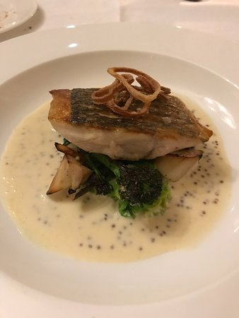 Cuckfield, UK: Turbot? with a mustard sauce (paraphrase)