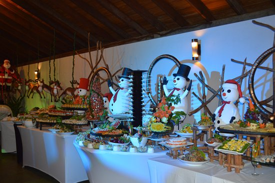 The Palms Hotel: Christmas Buffet Set up