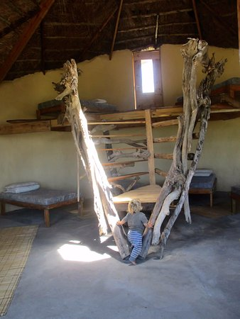 Lubanzi Village, South Africa: funky staircase in our rondavel dorm